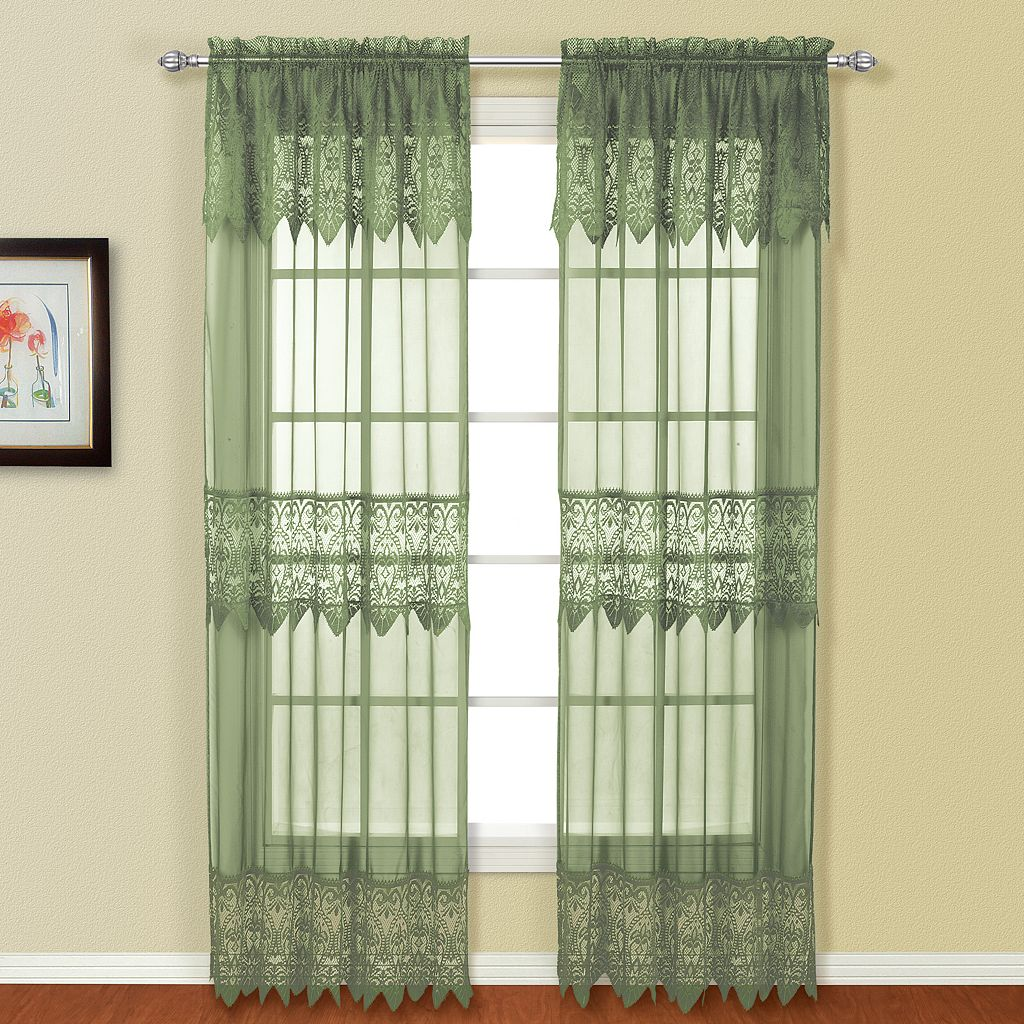 United Curtain Co. 2-pack Valerie Window Curtains
