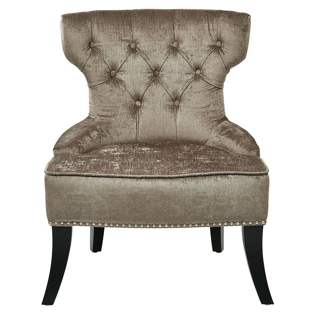 Ave Six Colton Vintage Button Tufted Velvet Chair