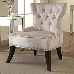 Ave Six Colton Vintage Button Tufted Velvet Chair
