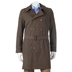 Men's Savile Row Kingston Classic-Fit Double-Breasted All-Weather Coat