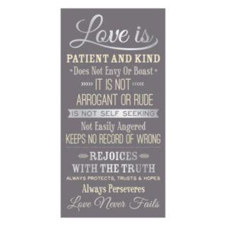 ''Love is Patient'' Wall Art