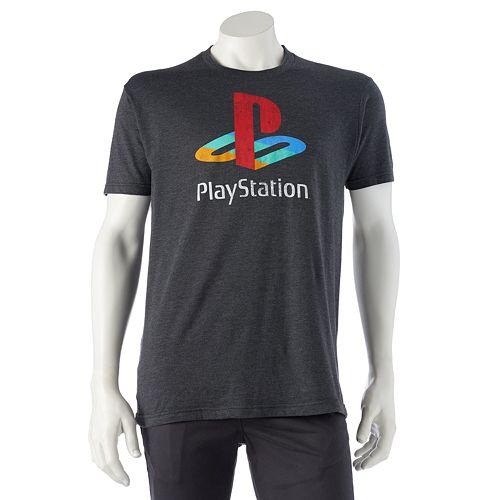 Men's Distressed Playstation Tee