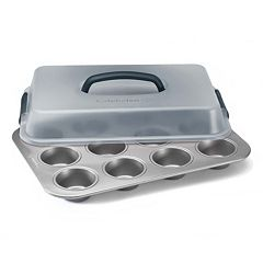 Calphalon Nonstick 12-Cup Covered Cupcake Pan