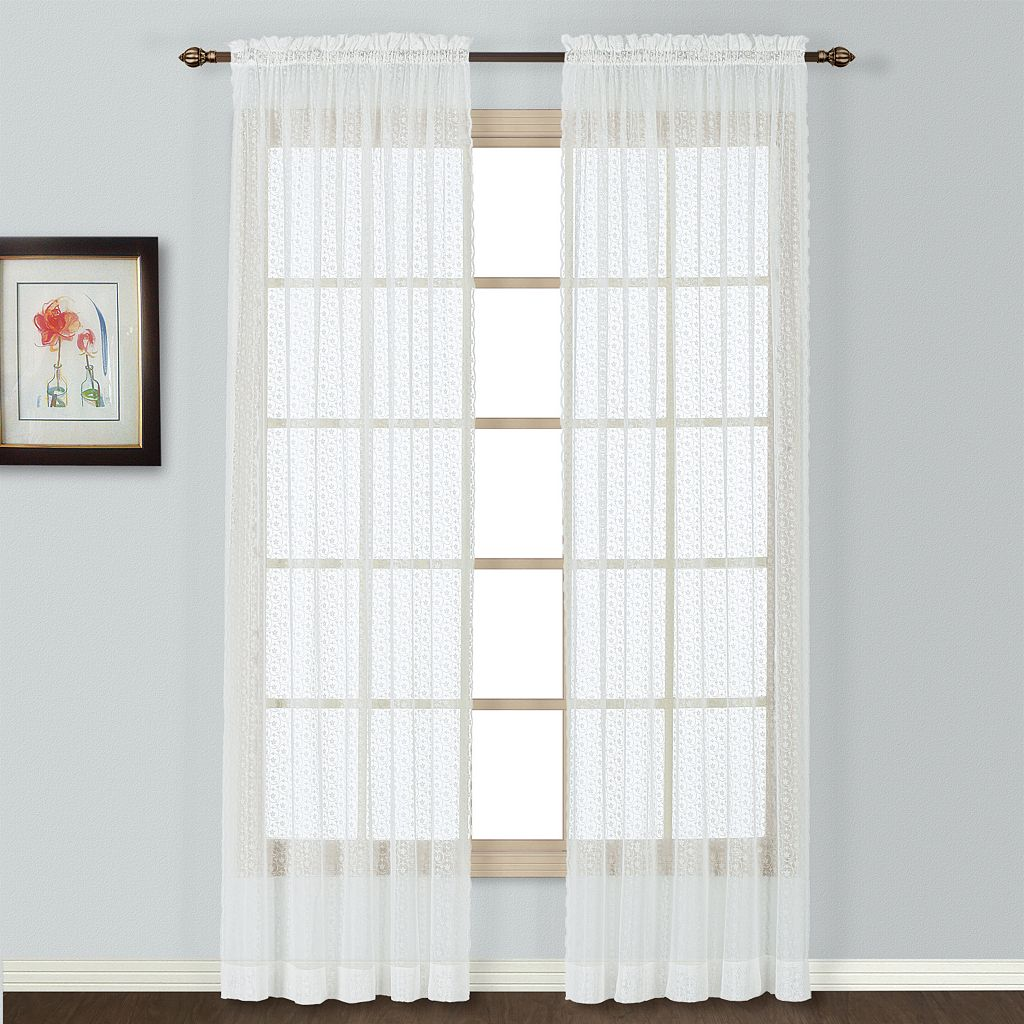 United Curtain Co. Charlotte Lace Window Panel