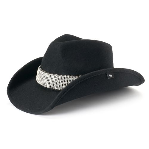 Women s Peter Grimm Darrel Wool Rhinestone Cowboy Hat ab4b101c268