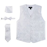 Steven Land Paisley 4 pc Vest Set - Men