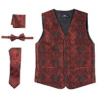 Men's Steven Land Paisley 4-pc. Vest Set