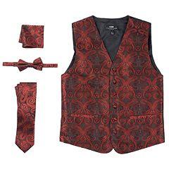 Men's Steven Land Paisley 4 pc Vest Set