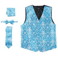 Men's Steven Land Paisley 4 pc Vest Set
