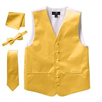 Big & Tall Steven Land Solid 4 pc Vest Set