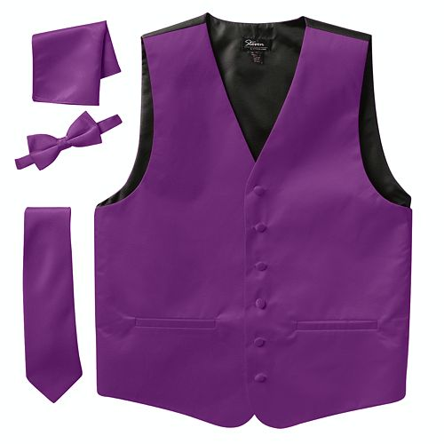 Big & Tall Steven Land Solid 4-pc. Vest Set
