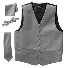 Big & Tall Steven Land Solid 4 pc Vest Set