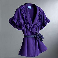 Simply Vera Vera Wang Ruffle Blouse :  button front blouse vera wang ruffled