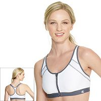 Champion Sports Bra: The Zip Front-Close High-Impact B7920