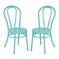 Ave Six Odessa Metal Dining Chair 2 pc Set