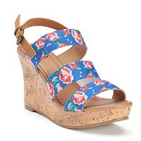 SO® Women's Wedge Sandals