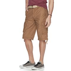 Men's Unionbay Cordova Messenger Belted Cargo Shorts