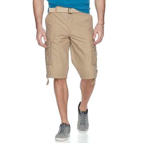 Men's Unionbay Cordova Messenger Belted Cargo Shorts
