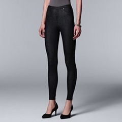 Simply Vera Vera Wang Rivet Denim Leggings