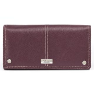 Buxton Westcott Expandable Leather Clutch