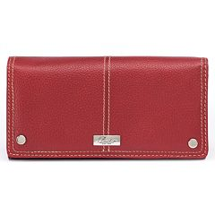 Buxton Westcott Expandable Leather Clutch