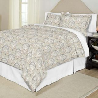 Pointehaven Cedar Printed Percale Duvet Cover Set