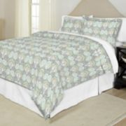 Pointehaven Cypress Printed Percale Duvet Cover Set