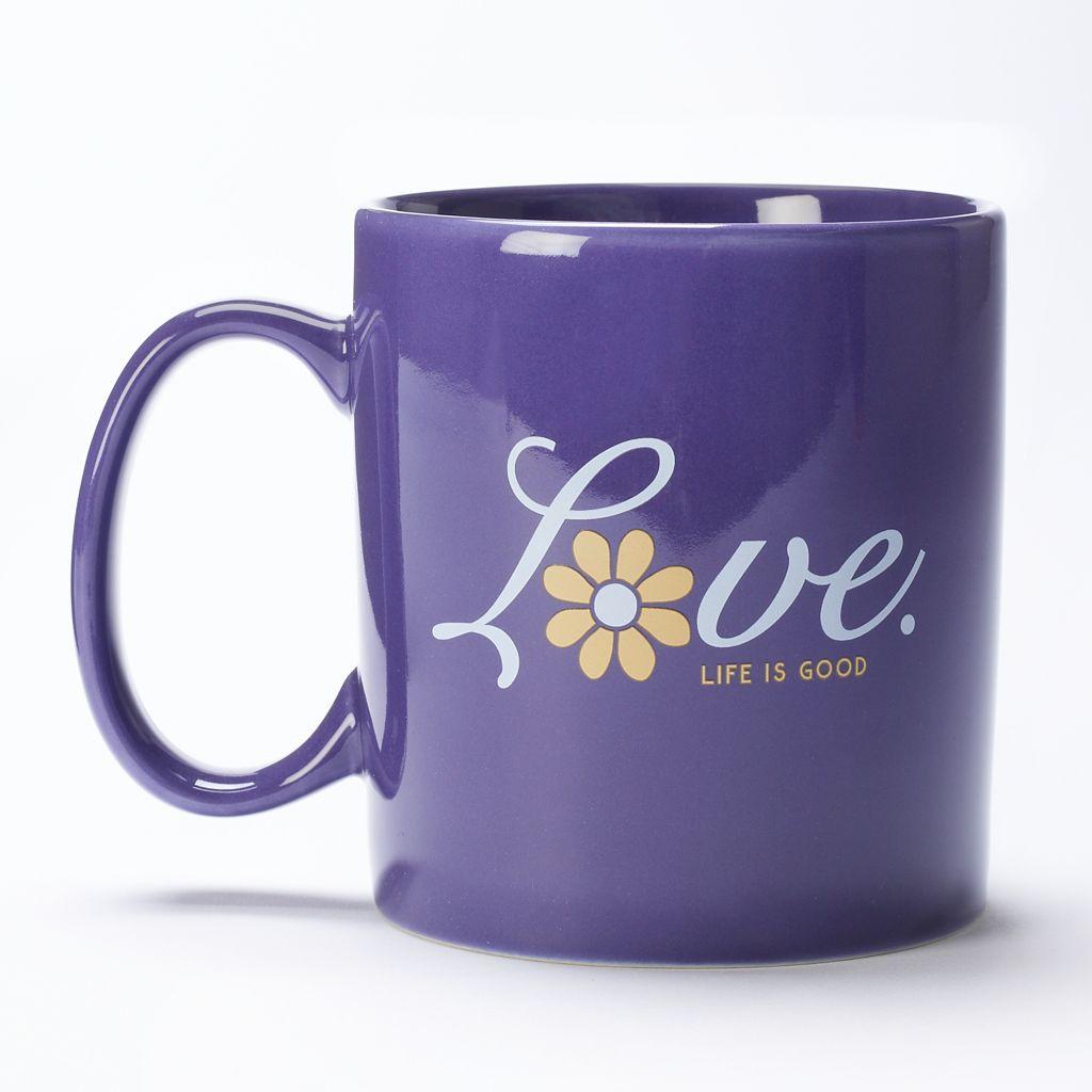 Life Is Good 16-oz. Love Flower Coffee Mug