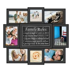 malden 8 opening family rules collage frame
