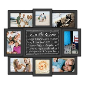 Malden 8-Opening ''Family Rules'' Collage Frame