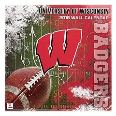 Turner Wisconsin Badgers 2016 12' x 12' Wall Calendar