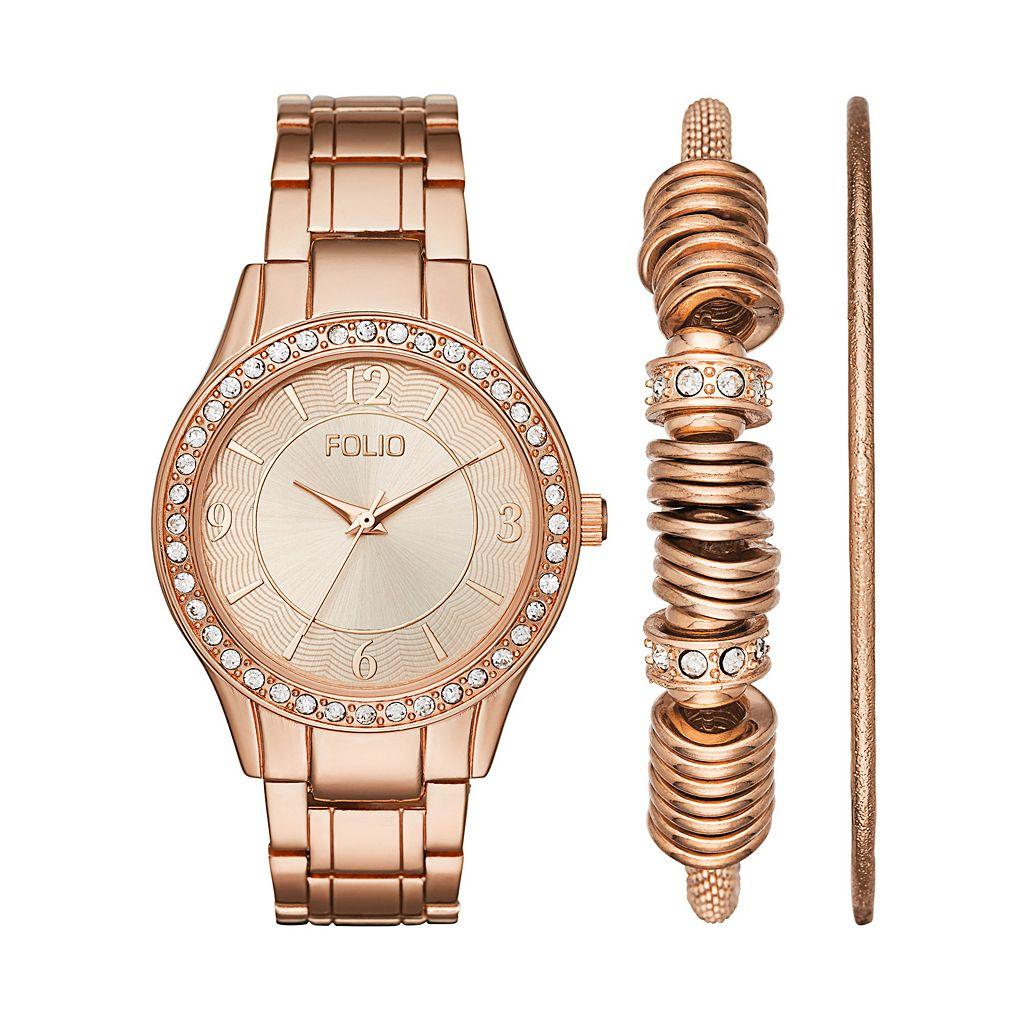 Folio Women's Watch & Bracelet Set