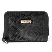 Buxton Zip-Around Leather Wallet