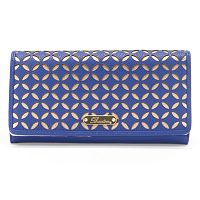 Buxton Polka Dot Laser-Cut Expandable Clutch
