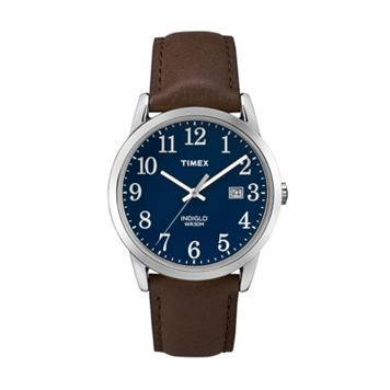 Timex Men's Easy Reader Leather Watch - TW2P759009J
