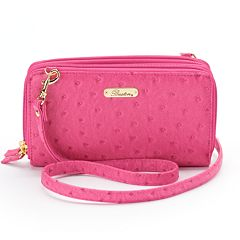 Buxton Ostrich Brights Ultimate Organizer Convertible Clutch