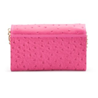 Buxton Ostrich Brights Crossbody Wallet