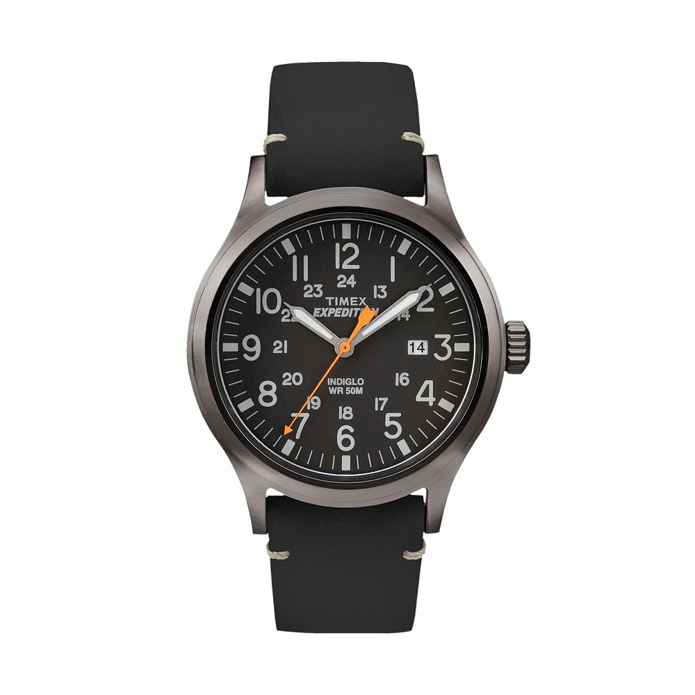 b3e5e7cd0d92 Timex Men s Expedition Scout Leather Watch - TW4B019009J