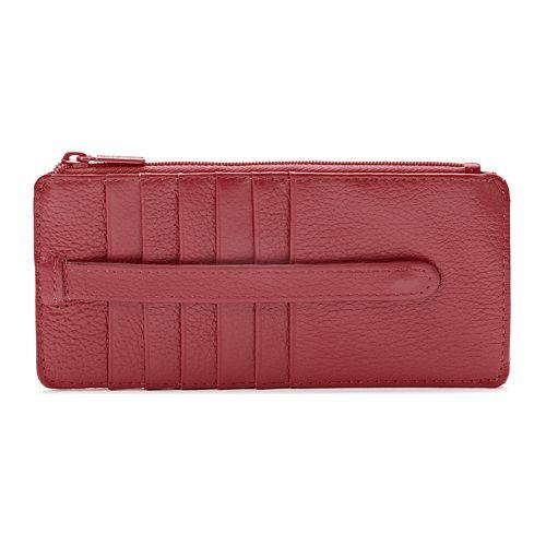 save off 7664a 91006 Buxton Hudson Pik-Me-Up Slim Wallet