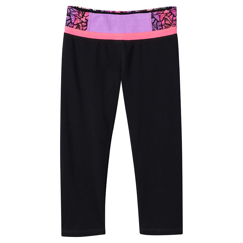 Girls 7-16 & Plus Size SO® Stacked-Waist Yoga Capris