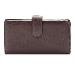 Buxton Hudson Pik-Me-Up Leather Checkbook Clutch