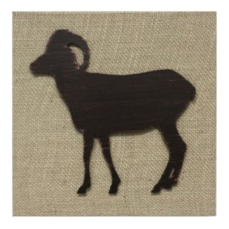 Fetco Stacy Ram Burlap Wall Art