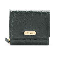 Buxton Rose Garden Leather Accordion Wallet