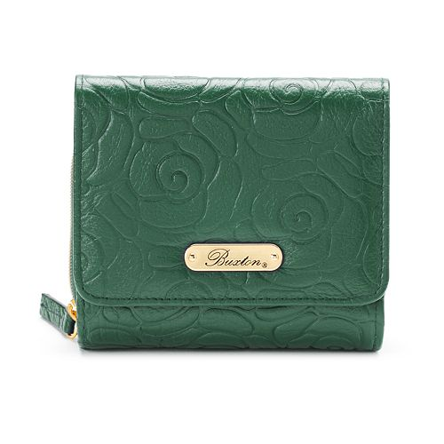 Buxton Rose Garden Leather Accordion Wallet
