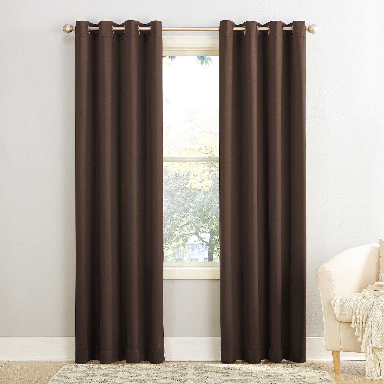 Bon Sun Zero 1 Panel Gramercy Grommet Room Darkening Window Curtain