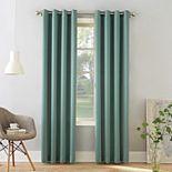 Sun Zero 1-Panel Gramercy Grommet Room Darkening Window Curtain