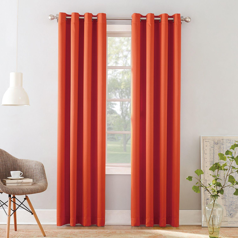 Charming Sun Zero 1 Panel Gramercy Grommet Room Darkening Window Curtain