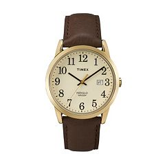 Timex Men's Easy Reader Leather Watch