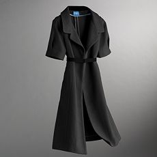Simply Vera Vera Wang Long Textured Coat :  coat long coat fitted textured