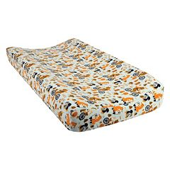 Trend Lab Friendly Forest Animal Flannel Changing Pad Cover